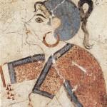 Fresque de la Xestè 3, Akrotiri, Théra, d'après Doumas 1992, 157, fig. 121.